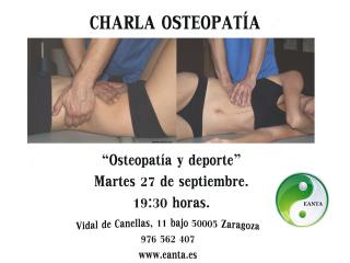 Charla osteopatía