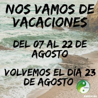 Copia de Nos Vamos de vacaciones del 10 al 23 de agosto